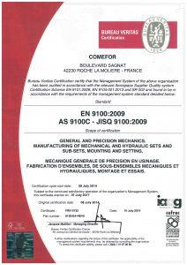 COMEFOR : certification EN 9100